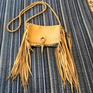 Handbags - Western deerskin fringe crossbody purse